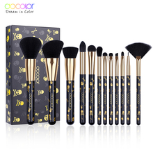 Docolor Makeup Brushes 12PCS Make Up Brush Set Powder Contour Eyeshadow Eye Shadow Brushes Soft Synthetic Hair Brush Kit