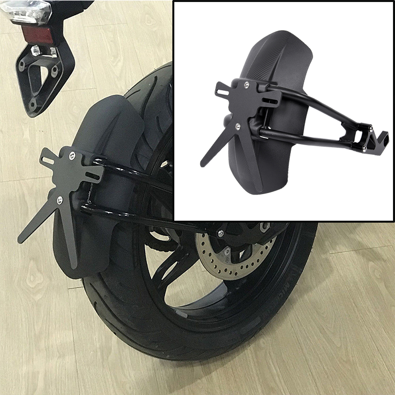 Motorcycle Accessories Black Rear Fender Mount Hugger Mudguard Wheel Hugger Splash Guard Cover For 2017-2019 BMW G310GS G310R