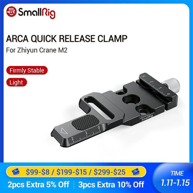 SmallRig Arca Quick Release Clamp für Zhiyun Kran M2 Gimbal Stabilisator Arca swiss Klemme Zu Montieren Auf Gimbals/arca Stative 2508