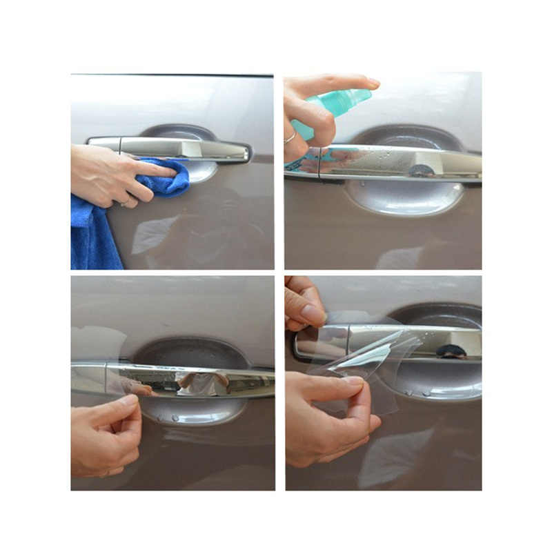 5 pçs/set Punho Do Carro Película de Protecção Do Carro Exterior Transparente Etiqueta Para Honda CR-V XR-V Odeysey Accord Crosstour FIT Jazz Cidade