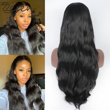 NoEnName_ Null 13*6 Lace Front Synthetic Wigs For Black Women Heat Resistant Half Hand Tied Front Free Style Wigs With Baby Hair cheap NoEnName_Null High Temperature Fiber Water Wave 230g 100g(+ -5g) piece 1 Piece Only Long Straight
