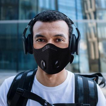 Man Woman Breath Valve Pm2.5 Filter Face Mouth Mask Activated Carbon Filter Respirator Mouth-Muffle Outdoor Sports Working Mask