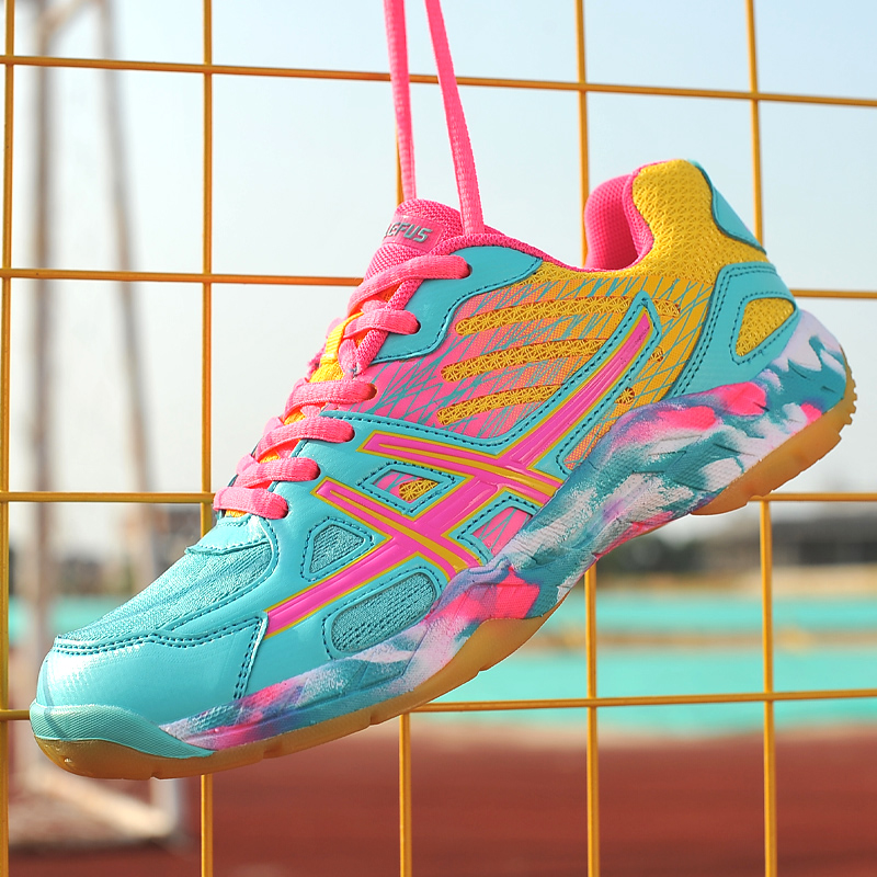 Women Tennis Badminton Shoes Big Size Young Girls Cute Sneakers Comfortable Training Boots Men's Sports Footwear Kids Non Slip image