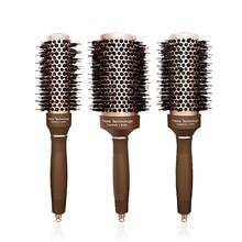 Heat Resistant Anti Static Hair Brush Professional Salon Comb Nano Ceramic & Anion Tech Hair Styling Curling Straightening Comb