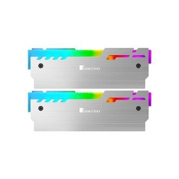 JONSBO NC-3 RAM Copertura 5V ARGB 3Pin MOBO AURA di SINCRONIZZAZIONE Streamer Maglia Di Raffreddamento LED di Memoria Radiatore a forma Di Cristallo di 2pcs