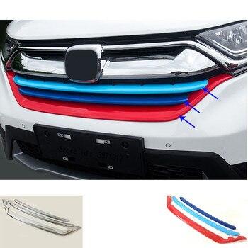 Защитное покрытие автомобиля детектор планки ABS Хром Передняя решетка решетки для гонок бампер для Honda CRV CR-V 2017 2018 2019 2020