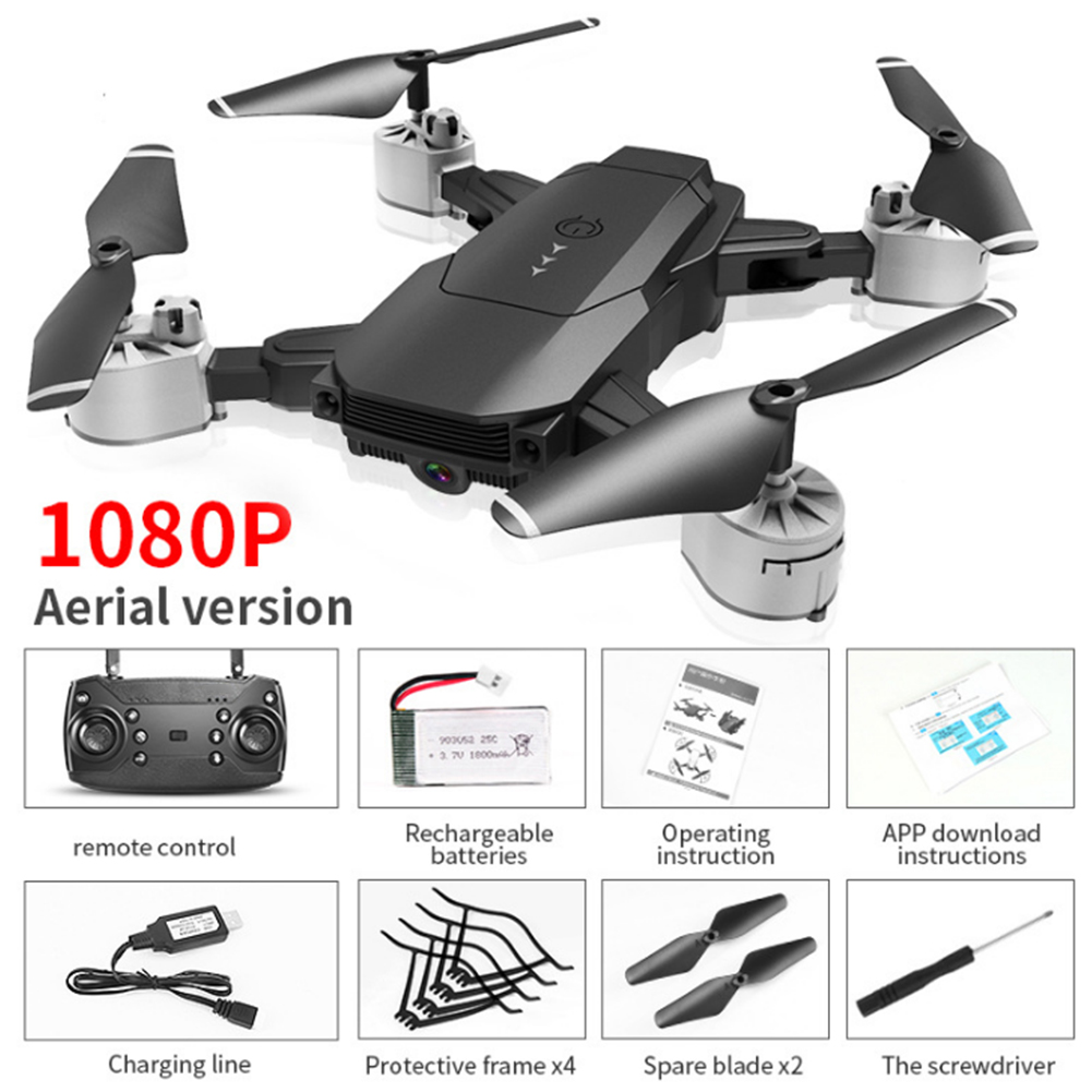 RC Drone Headless Mode Optical Flow Positioning 720p 1080p HD Camera WIFI FPV Face Recognition Helicopters Foldable Quadcopter