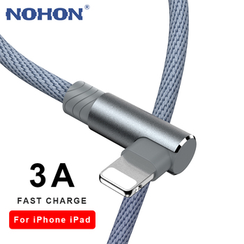 90 Degree Fast Charging USB Charger Cable For iPhone 6 6s 7 8 Plus X XR Xs 11 12 Pro Max SE 2 iPad Origin Data Cord Long Wire 3m 1