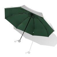 Donna uomo bambini 8 nervature tasca Mini ombrello Anti UV Paraguas ombrellone pioggia antivento luce pieghevole ombrelli portatili per