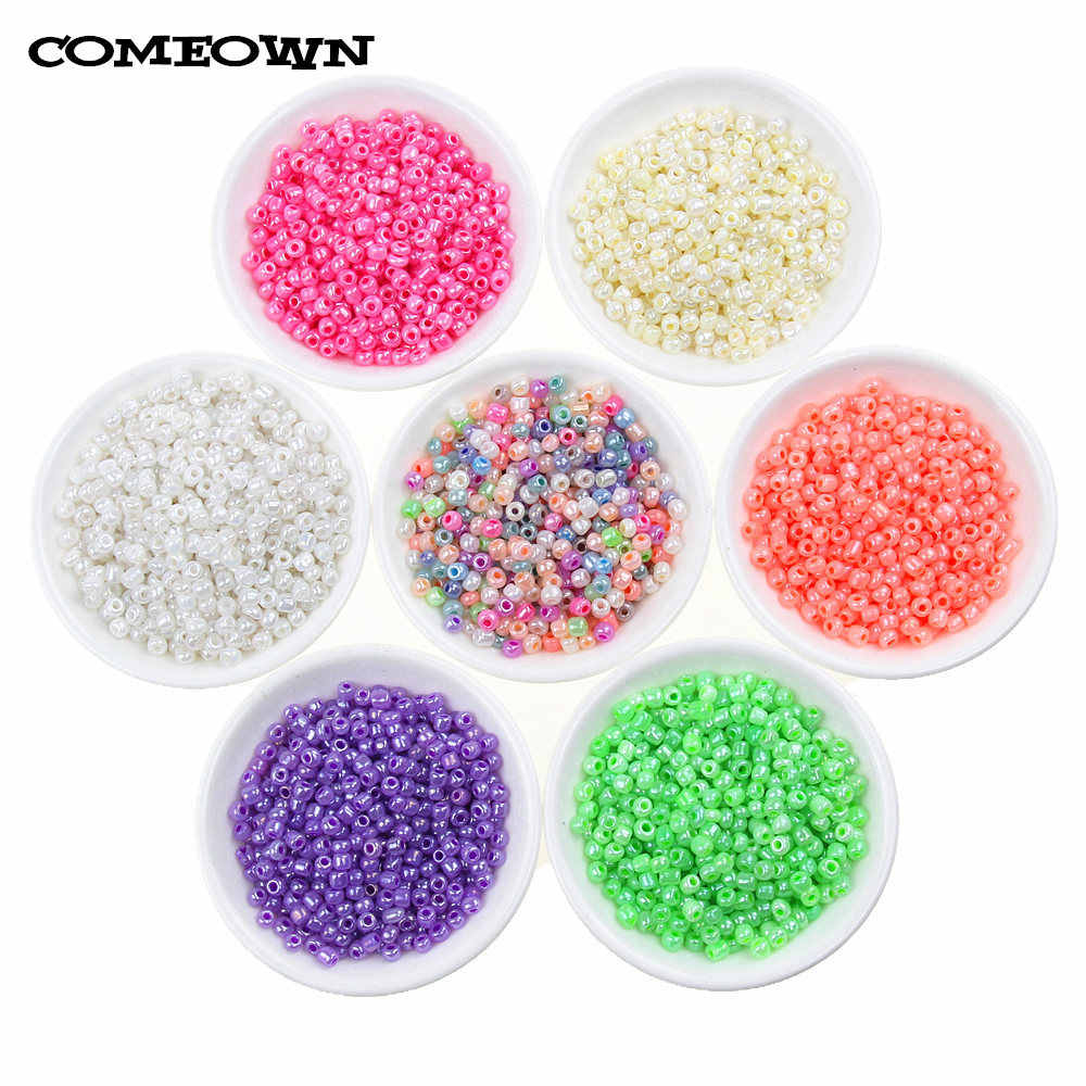 1800pcs 2mm Sweets Color Czech Glass Loose Spacer Seed Beads for Jewelry Making