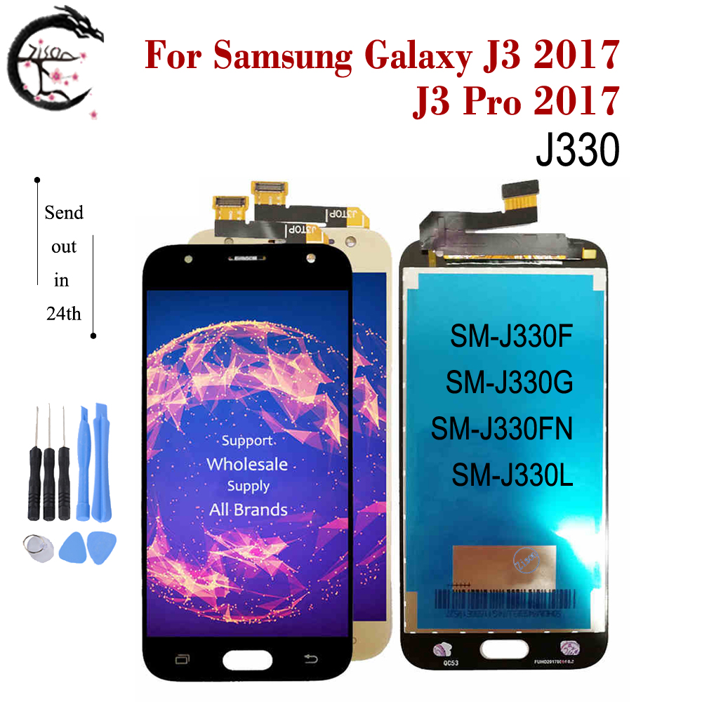 New LCD For <font><b>Samsung</b></font> Galaxy J3 2017 J330 J330F Display Screen Touch Sensor Digitizer Assembly J3 Pro 2017 J330G <font><b>J330FN</b></font> J330L LCD image