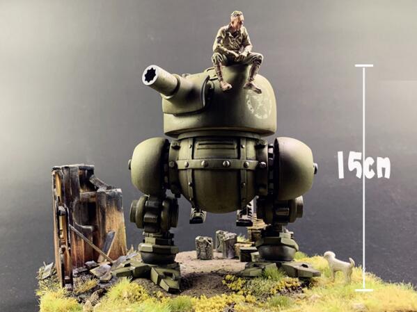 1/35 Resin Figure Sci-fi Sherman Tank Model Kits(no Base,no Soldier,no Dog)