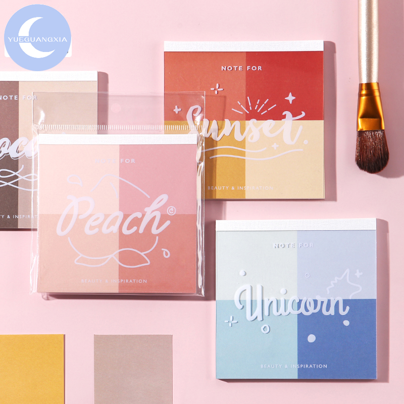 YueGuangXia Colorism Beauty Lipstick Colors Loose Leaf Memo Pads Notepad Diary Write Down Notes Memo Pads 30pcs/lot 8 Designs