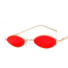ZXRCYYL Sunglasses Women Luxury Brand Designer vintage 2020 new retro color small ellipse sunglasses fashion designer unisex tanie tanio Egnwkth Owalne Dla dorosłych Stop Lustro UV400 23mm G-A12 51mm