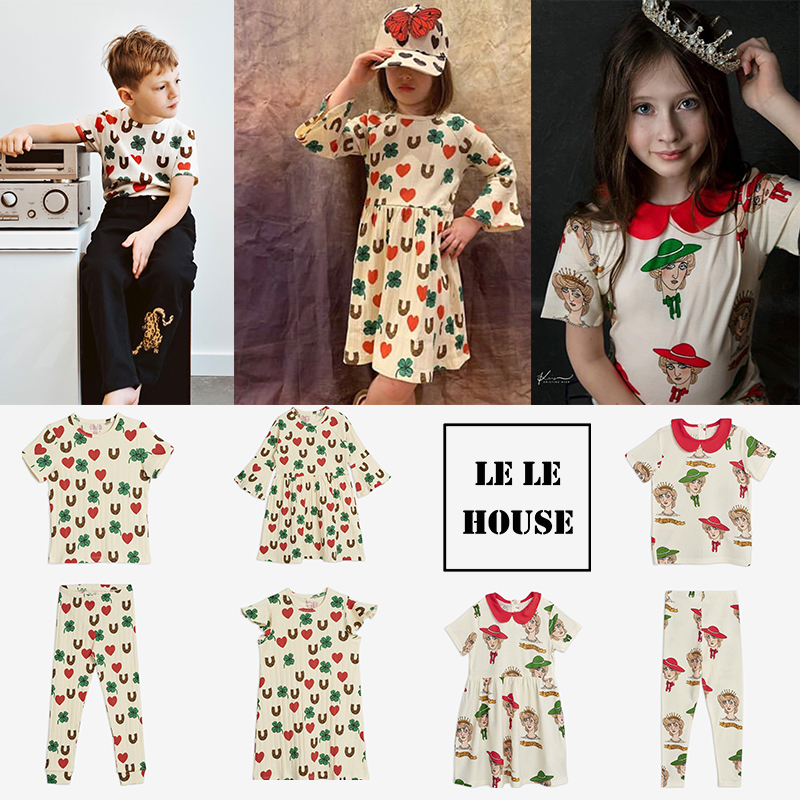 lelehouse-MR NEW 2020 New Summer Baby Girls Clothes Children's Sets Fashion Beach Christmas Kids Clothing Boys Clothes