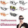 2 стиля, искусственные забавные очки для маскарада, вечеринки, тыква, череп, череп, паук, паутина, страшные Глазные яблоки, украшения на Хэлло...