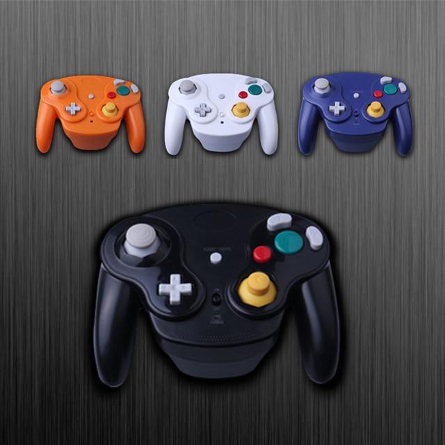 Para gamecube gamepad sem fio 2.4 ghz bluetooth controlador de jogo joystick para nintendo para gamecube para ngc para wii