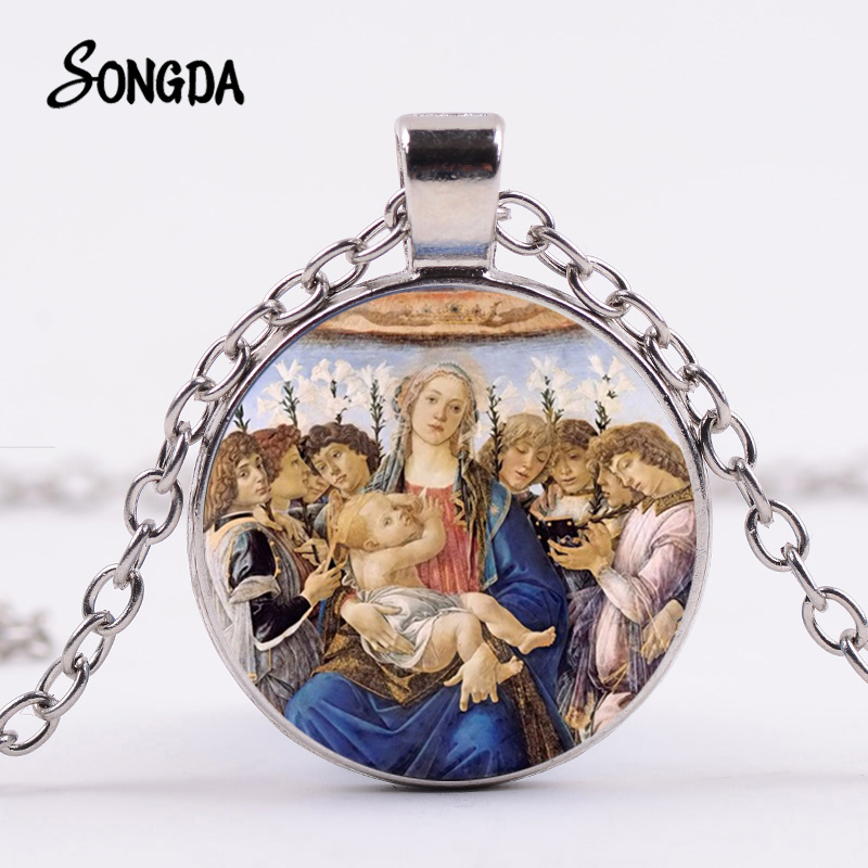 Jesus Mary religeous glass cabochon pictures image 20mm earring pendant charm