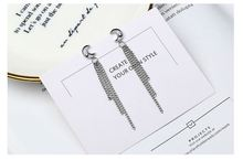 S925 silver Womens Moon and star Luxury shining  needle anti-allergy trendy Earrings