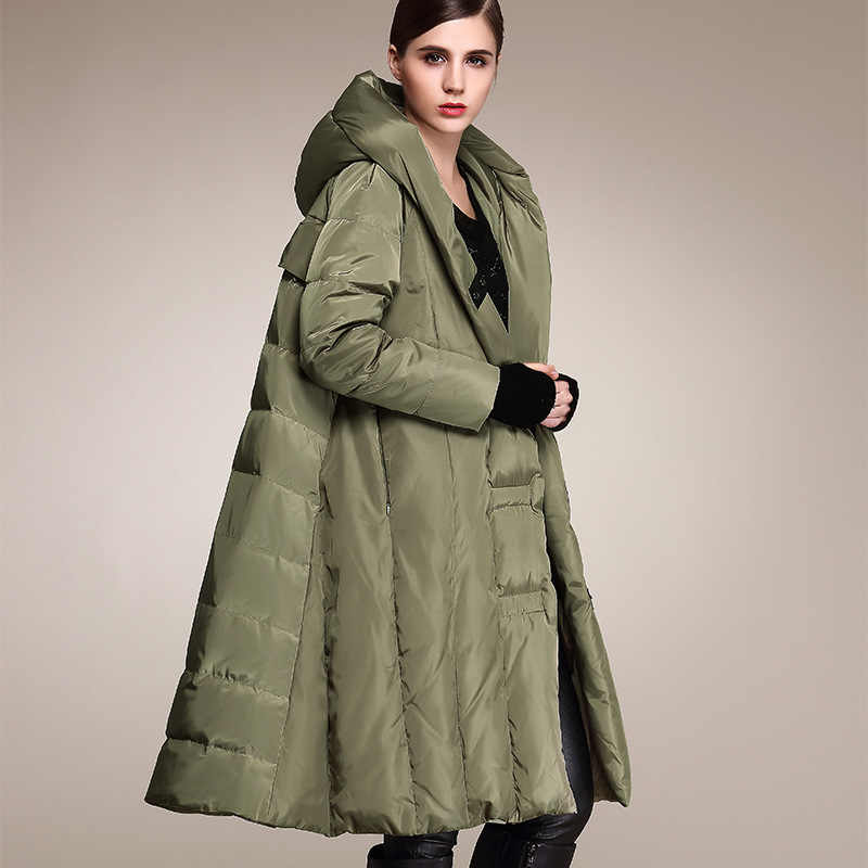 ฤดูหนาวผู้หญิงลงเสื้อแจ็คเก็ตเสื้อคลุมยาวขนาดใหญ่ปักเป้าหญิง WARM Parka เสื้อคลุม 2020 OYG-0155 KJ2810