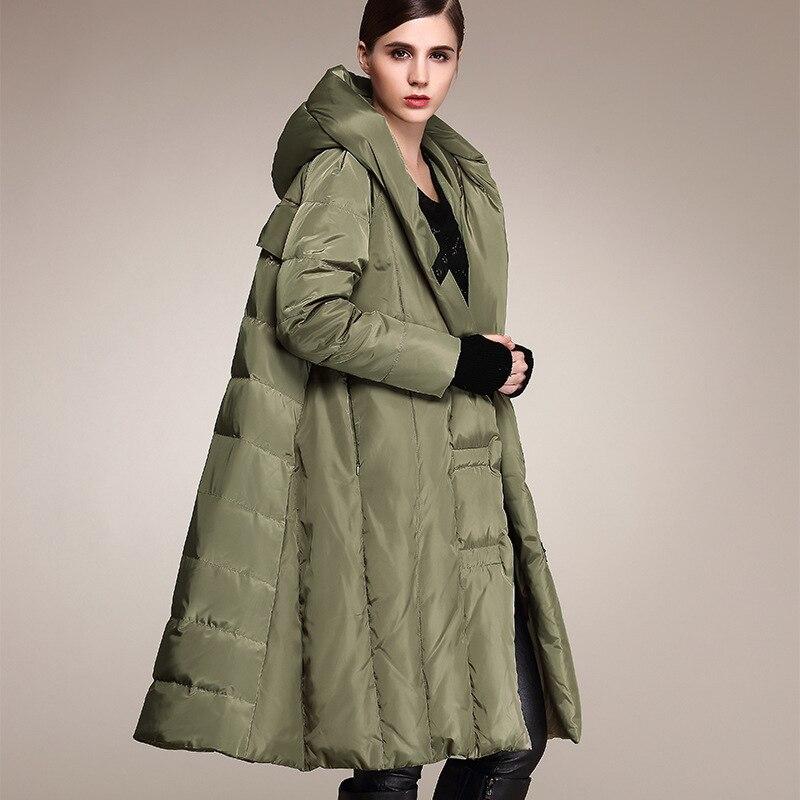 Winter Women's Down Jacket Hooded Long Coat Large Size Puffer Female Jacket Warm Parka Cloak 2020 OYG-0155 KJ2810