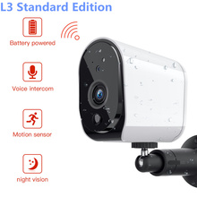 L3 Plus Upgrade With Solar panel 1080P WiFi Lower Power Outdoor IP Camera Really Wireless Surveillance Home Security Waterproof