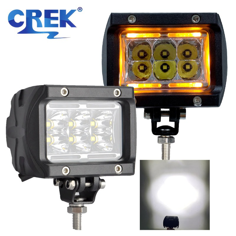 "CREK 4"" 30W Two Modes Offroad LED Work Light Motorcycle LED Light ATV SUV LED Work Light For Offroad 4x4 4WD SUV ATV Truck Car