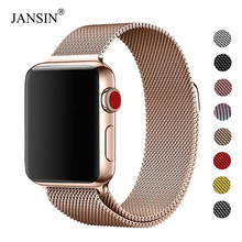 Pulsera Milanese Loop banda de acero inoxidable para Apple Watch series 5 4 40mm 44mm correa de pulsera para iwatch la serie 3 2 42mm 38mm(China)