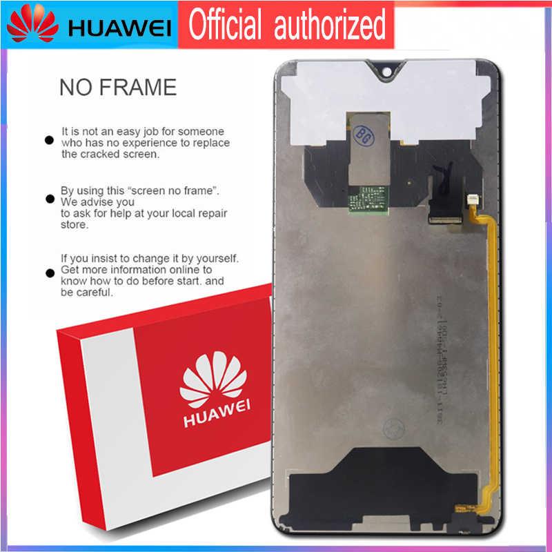 Ban Đầu 6.53 ''Màn Hình Hiển Thị Có Khung Thay Thế Cho Huawei Mate 20 Màn Hình Cảm Ứng LCD Bộ Số Hóa Mate20 HMA-l29 HMA-l09