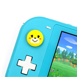 Image 3 - Animal Crossing Secretary Puppy Dog Isabelle Thumb Stick Grip Cap Joystick Cover For Nintend Switch Lite Joy Con Controller Case