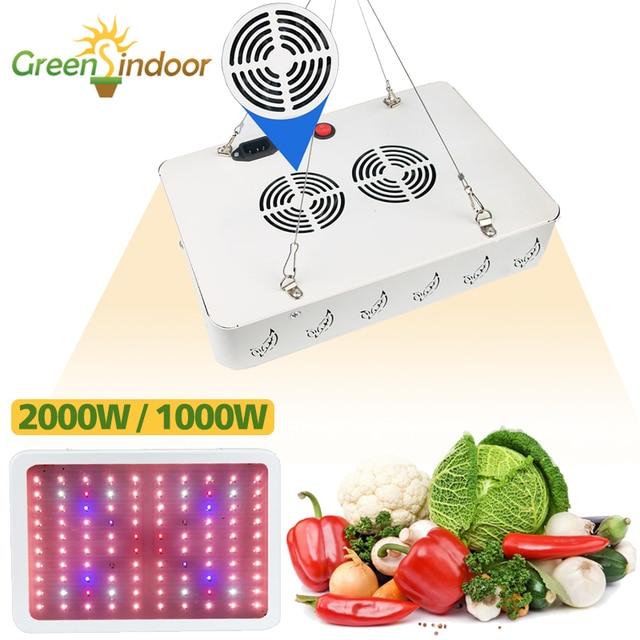 Luz LED de cultivo de espectro completo, 2000W, 1000W, lámparas de cultivo de interior, tiendas de campaña, Fito, invernadero de flores, jardín