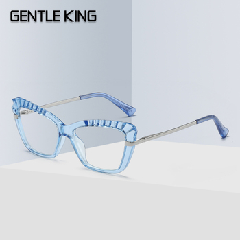 GENTLE KING TR90 blokujące niebieskie światło komputerowe ramki okularów damskie okulary ramki okularów damskie trendy style marki optyczne okulary do czytania tanie i dobre opinie Unisex GK2046 52MM 37MM Octan