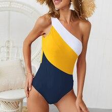 Слитный купальный костюм для женщин, одежда для плавания на плече, купальный костюм для женщин, боди для фитнеса, купальный костюм с пуш-ап, женский купальный костюм