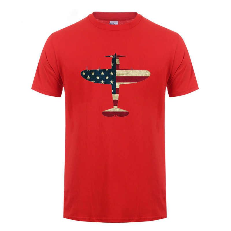 Retro Usa bandera americana P-47 rayo avión USAF PilotWarbird Pilot Camiseta para los amantes de Warbird Fans del Airshow