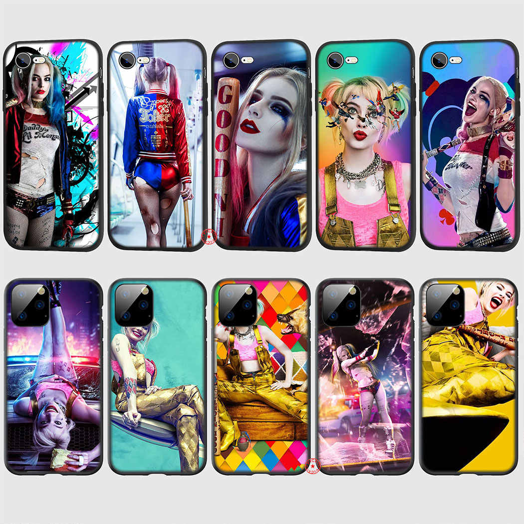 Birds of Prey Harley Quinn joker Soft Silicone Case for iPhone 11 Pro XR X XS Max 6 6S 7 8 Plus 5 5S SE TPU Cover