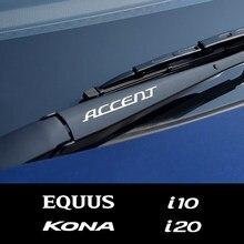 4 шт., наклейки на лобовое стекло автомобиля для Hyundai ACCENT CRETA EON EQUUS i10 i20 i40 IONIQ IX25 IX55 KONA