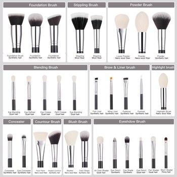 BEILI Black Makeup brushes set Professional Natural goat hair brushes Foundation Powder Contour Eyeshadow make up brushes 5