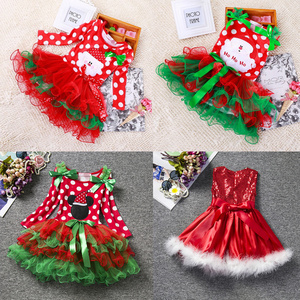 Princess Kids Baby Christmas Wedding Dress Sequins Party Dress For Girl Tutu Kids Clothes Children Backless New Year Dresses