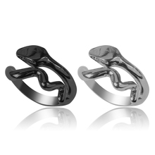 2020 Latest Mens Ring Animal Snake-shaped Opening Adjustable Two Colors Optional Domineering Retro Male Jewelry Gift Hot