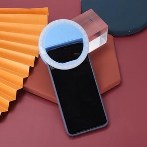 Универсальный селфи LED кольцо вспышка портативный мобильный телефон 36 светодиодов селфи лампа светящееся кольцо клип для iPhone для Samsung