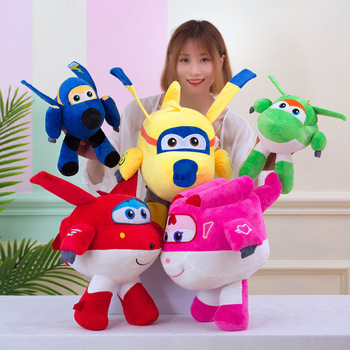 Super Wings Anime Figure Plush Toy Doll 20cm Children's Cartoon Lovely Toys Ledy Cartoon Hero Character Birthday Present Toys image