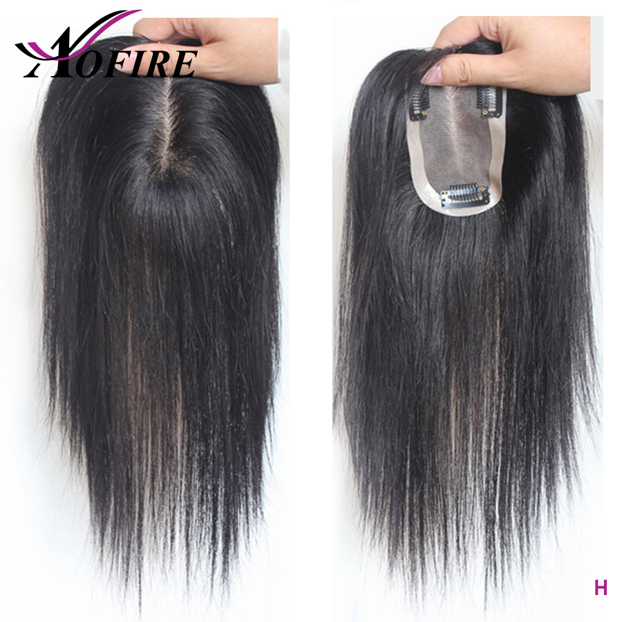100% Human Hair For Women And Men 10*7 Size Pre Plucked Natural Hairline 8-16 Brazilian Remy Hair With Clips Natural Color