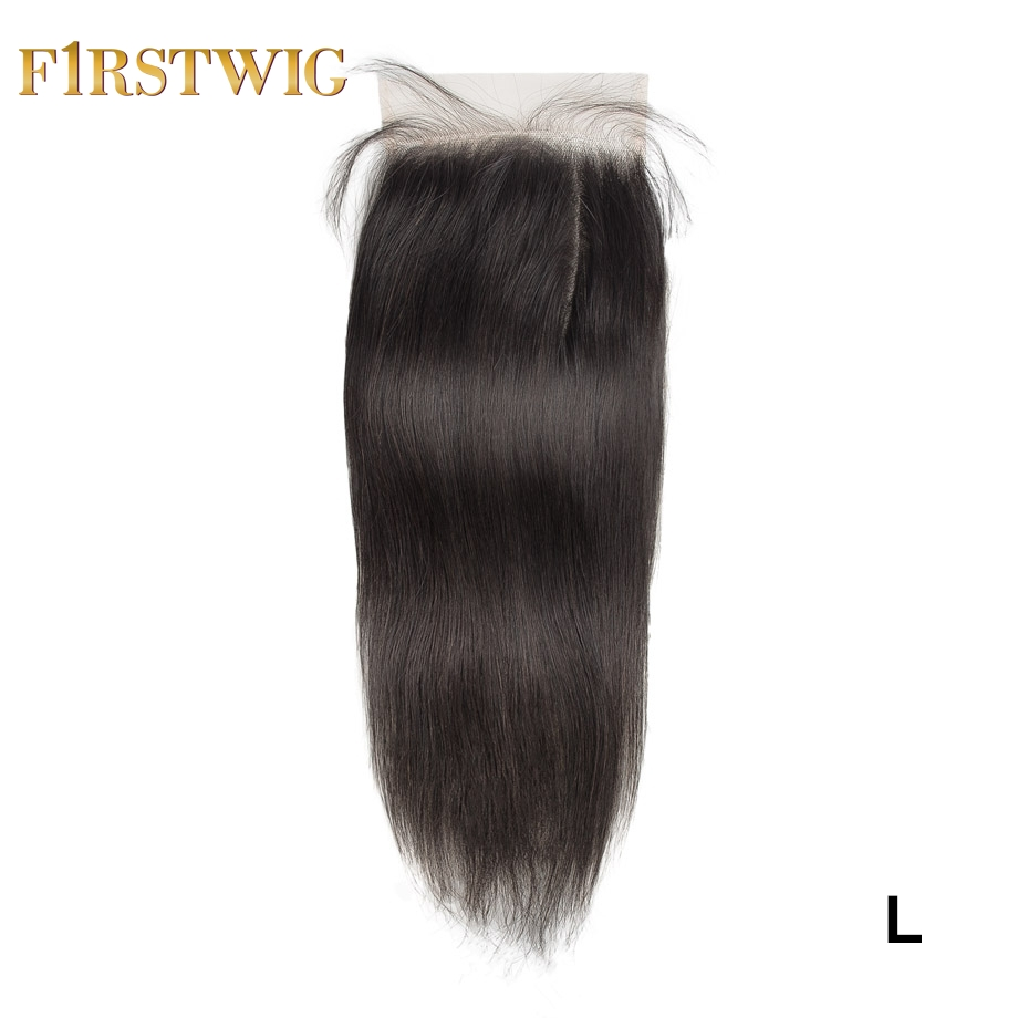 Brazilian Transparent/Swiss Lace Straight 6X6 Closure Pre Plucked Remy Human Hair For Black Women Low Ratio Firstwig