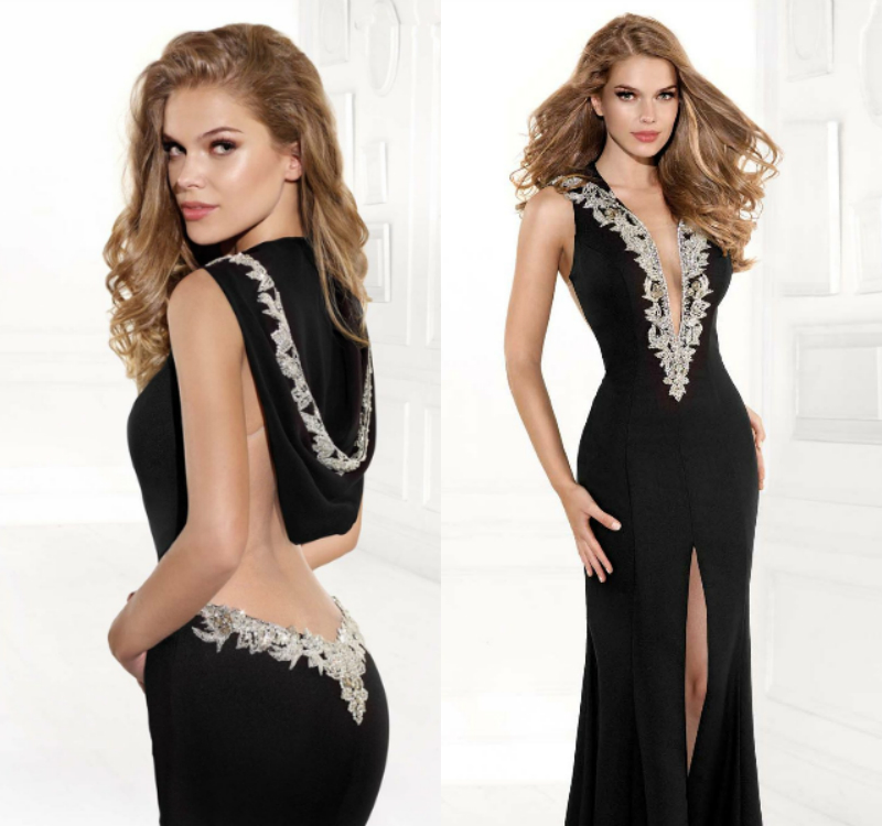 Sexy Backless 2018 Saree Michael Korns Sexy V-neck Brides Formal Gown Sleeveless Handmade Evening Mother Of The Bride Dress