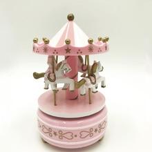 Music Box Merry-Go-Roundtous Birthday Cake Carousel Music Box Home Decoration Birthday Gift Decoration Accessories kawaii zakka carousel musical boxes wooden music box wood crafts retro birthday gift vintage home decoration accessories