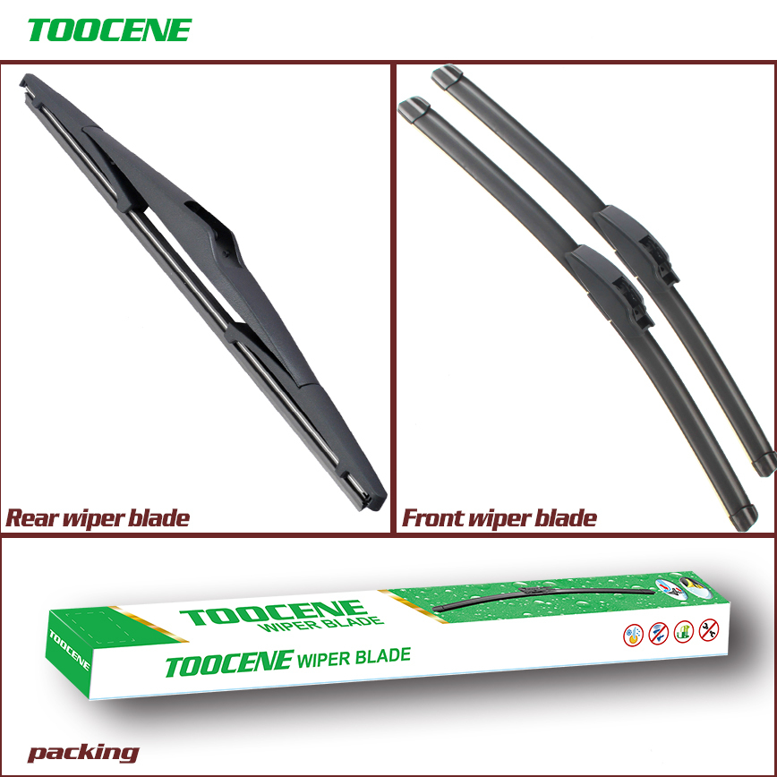 Front and Rear Wiper Blades For Hyundai IX35 2010 2016  Rubber Windscreen Windshield Wipers Auto Car Accessories wiper blade rear wiper blade windshield wiper - title=
