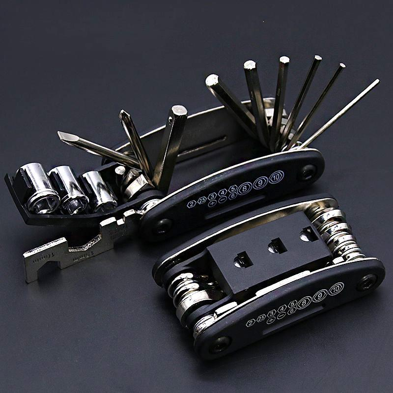 15 ln 1 Motorcycle Wrench Set Inch <font><b>Bike</b></font> Bicycle Multi Repair Tool Kits Mountain Cycle Screwdriver Tool Motorcycle <font><b>Assessoires</b></font> image