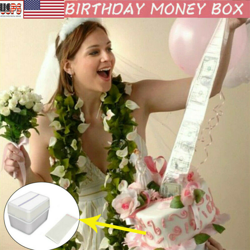 Cake ATM Surprise Birthday Party Topper Money Box Funny Cake Kids Gifts Happy Decor Pull Money Surprise Box Cake Tool