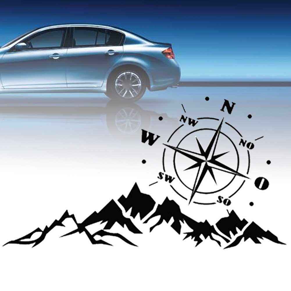 Car Sticker Auto Tree Mountain SUV Off-road RV Camper Car-Styling Vehicle Reflective Decals Sticker Decor Accessories(China)
