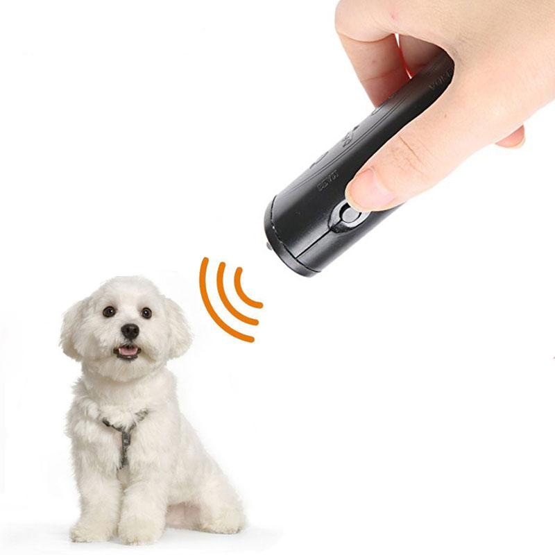 3 in 1 Dog Anti Barking Device Ultrasonic Dog Repeller Stop Bark Control Training Supplies With LED Flashlight 2